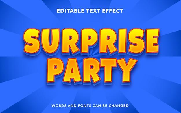 Effetto di testo modificabile per uno stile di testo a sorpresa