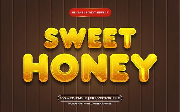 Effetto testo modificabile stile liquido dolce miele