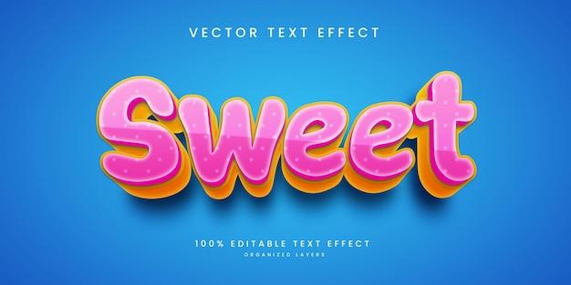 Effetto di testo modificabile in sweet style