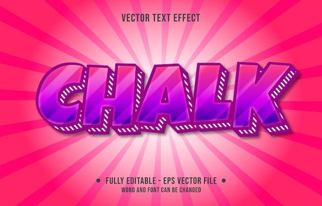 Modello di effetto di testo modificabile in grassetto stile moderno di colore sfumato viola e rosso