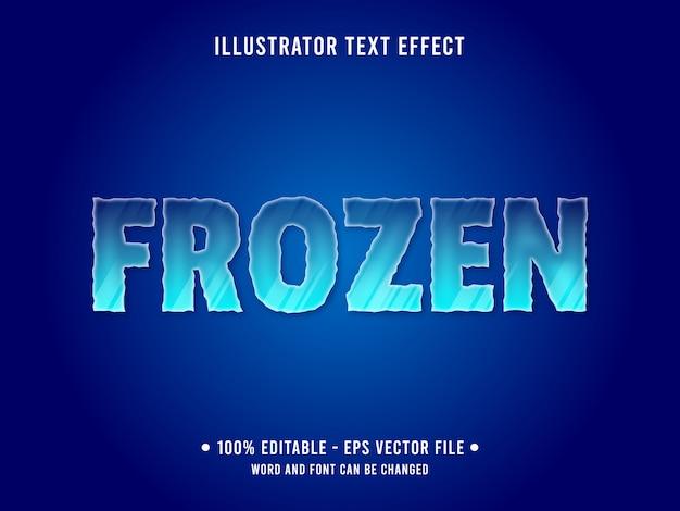 Modello di effetto di testo modificabile stile ghiaccio congelato