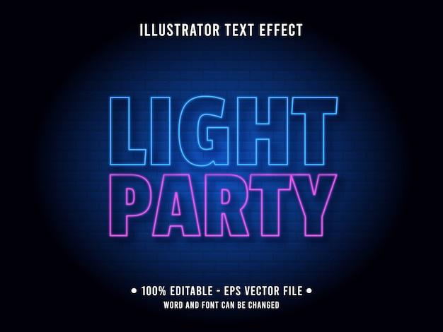 Modello di effetto di testo modificabile stile luce al neon