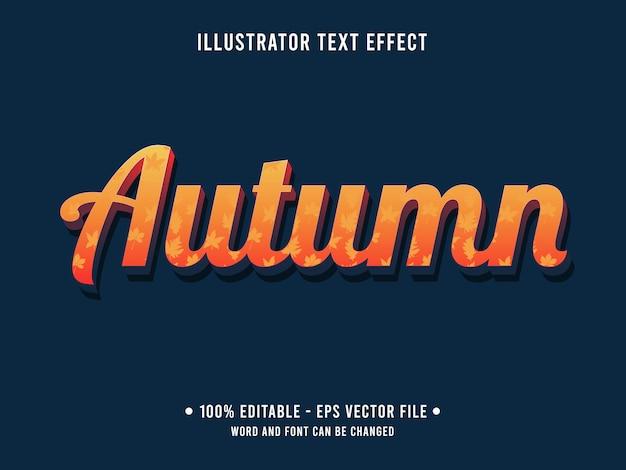 Modello di effetto di testo modificabile arancione stile autunnale
