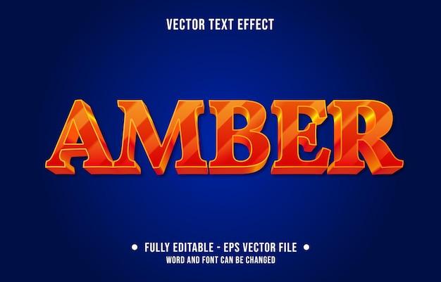 Modello di effetto di testo modificabile in stile moderno di colore sfumato ambra rosso