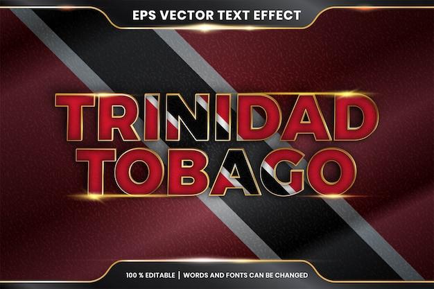 Effetto di testo modificabile - trinidad e tobago con la sua bandiera nazionale