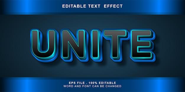 Effetto di testo modificabile unire