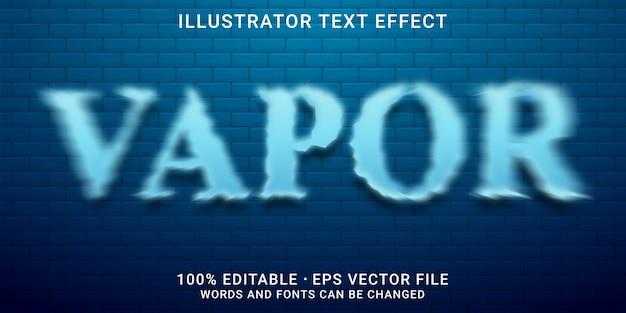 Stile vapore effetto testo modificabile