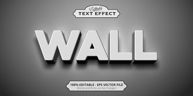 Effetto di testo modificabile, testo a parete