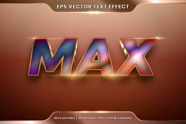 Effetto di testo modificabile con max word