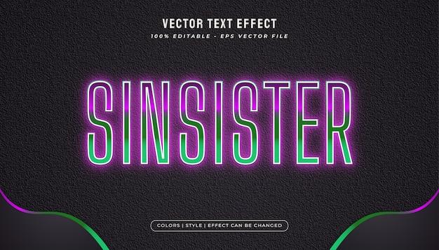 Effetto testo modificabile con stile spettrale ed effetto luminoso