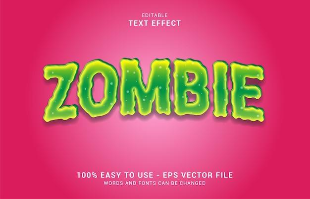 Effetto di testo modificabile, stile zombie
