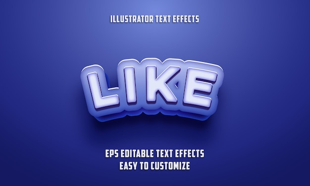 Stile di effetti di testo modificabile sul colore blu