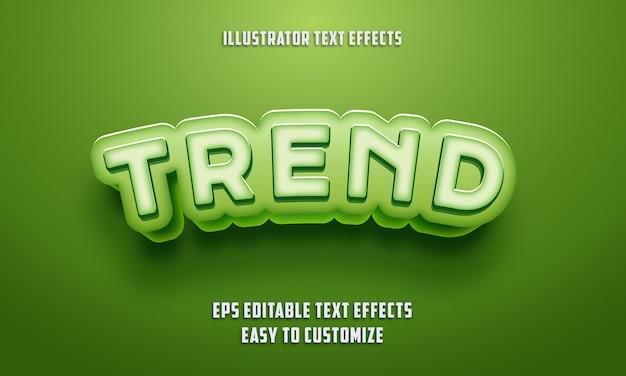 Stile di effetti di testo modificabile sul colore verde