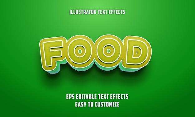 Stile di effetti di testo modificabile su colore verde e limone