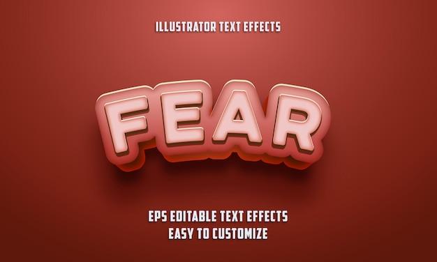 Stile di effetti di testo modificabile sul colore rosso