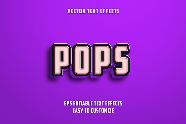Stile effetti di testo modificabili