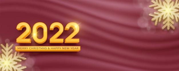 Testo modificabile numero 2022 effetto stile 3d su sfondo di lusso