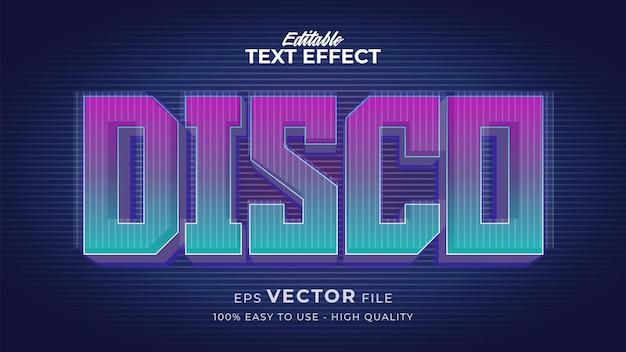 Effetto stile testo modificabile - tema in stile testo disco tech retro