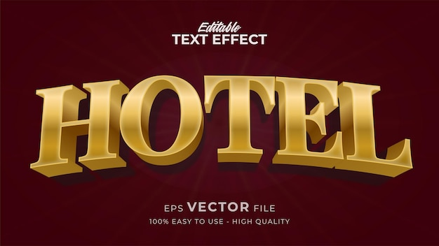 Effetto stile testo modificabile - tema stile testo gold hotel