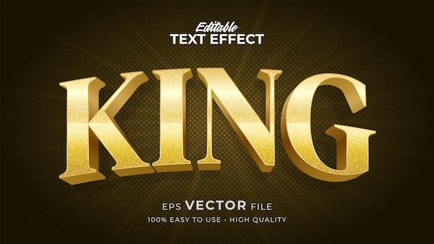 Effetto stile testo modificabile - tema in stile testo gold king