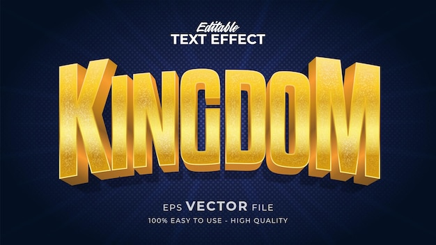 Effetto stile testo modificabile - tema in stile testo gold kingdom