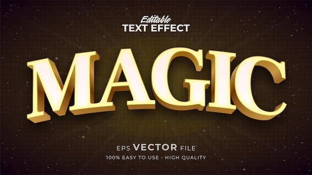 Effetto stile testo modificabile - tema magico stile testo