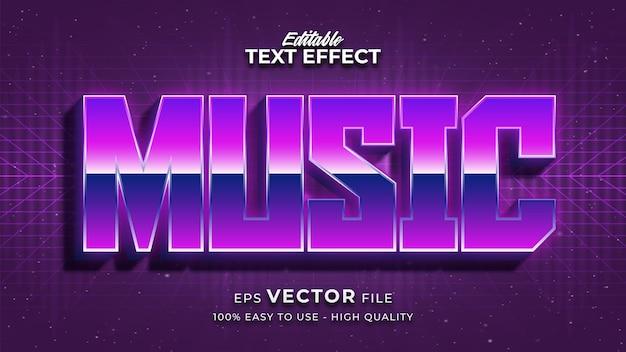 Effetto stile testo modificabile - tema stile testo musicale
