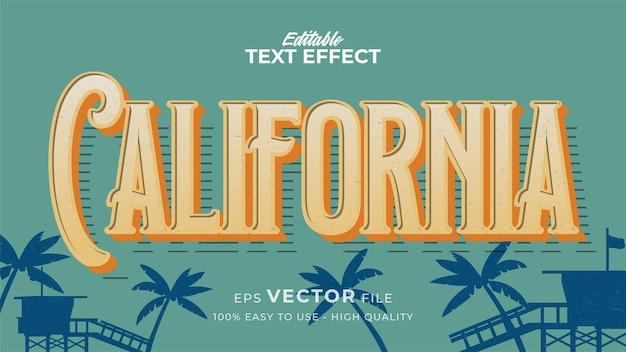 Effetto stile testo modificabile - tema in stile testo retrò california