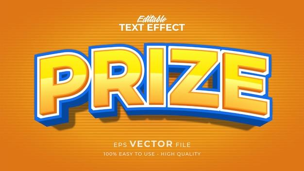 Effetto stile testo modificabile - tema stile testo premio giallo