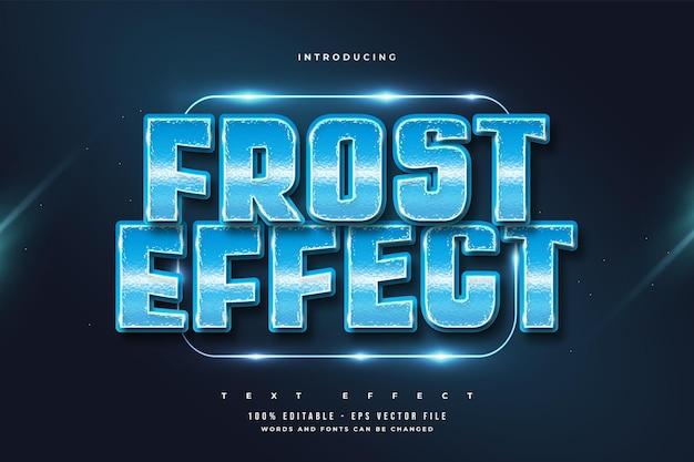Stile di testo modificabile con effetto blue frost