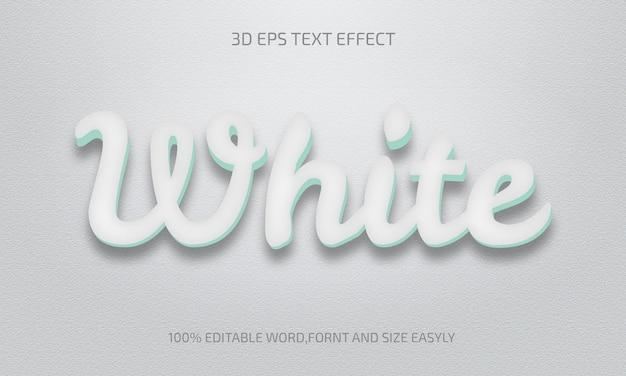 Stile effetto testo 3d bianco modificabile