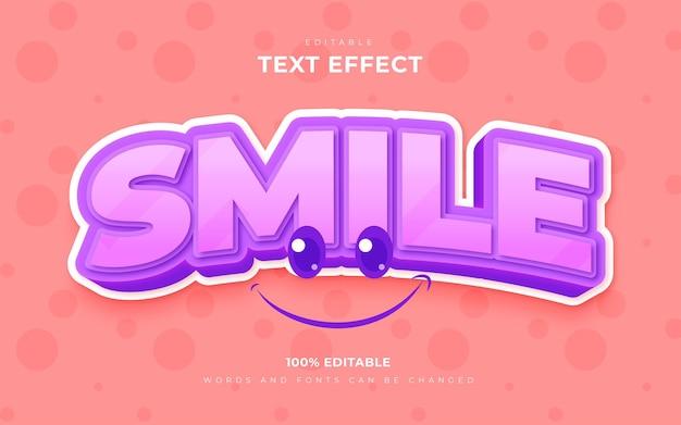Stile modificabile per gli effetti di testo della giornata mondiale del sorriso