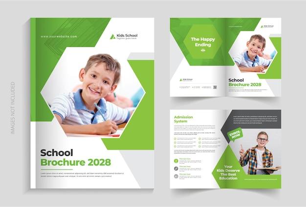 Modello di brochure per l'istruzione