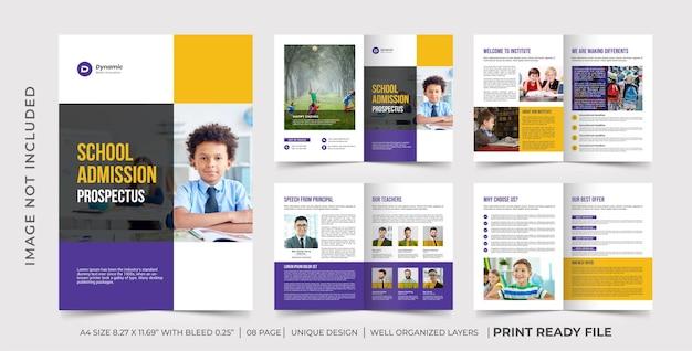 Modello di brochure aziendale di formazione
