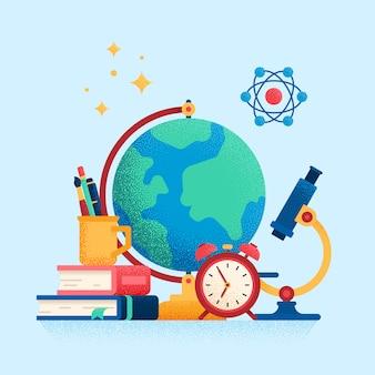 Concetto di educazione. e-learning. illustrazione piatta.
