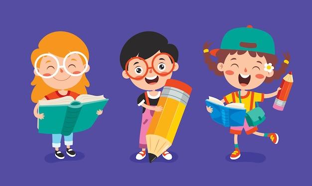 Concetto di educazione scolaro divertente