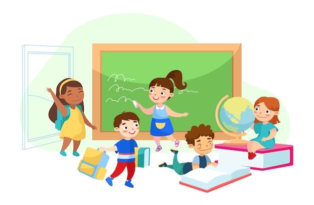 Concetto di educazione isolato su bianco