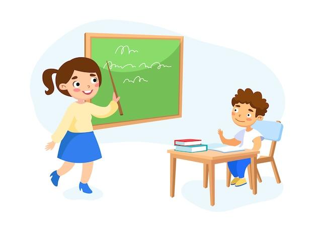 Concetto di educazione isolato su bianco Vettore Premium