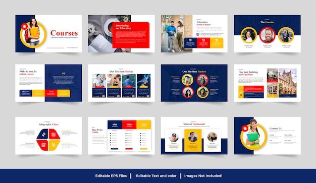 Modello di presentazione di diapositive google per l'istruzione