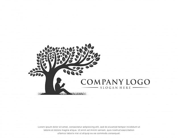 Design piatto di educazione logo ispirazione