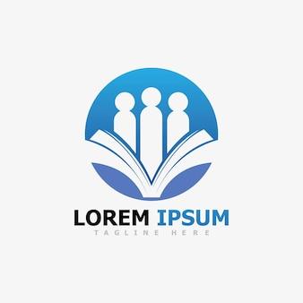 Progettazione dell'illustrazione dell'icona di vettore del modello di logo di istruzione
