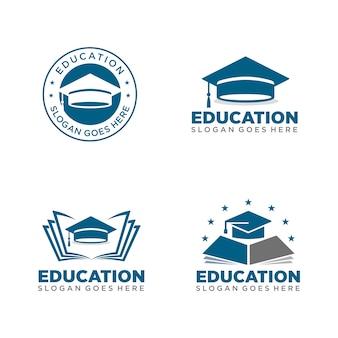 Modello di logo di educazione