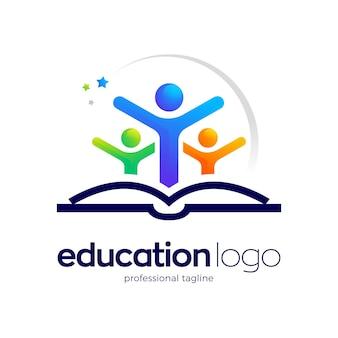 Modello di logo educativo