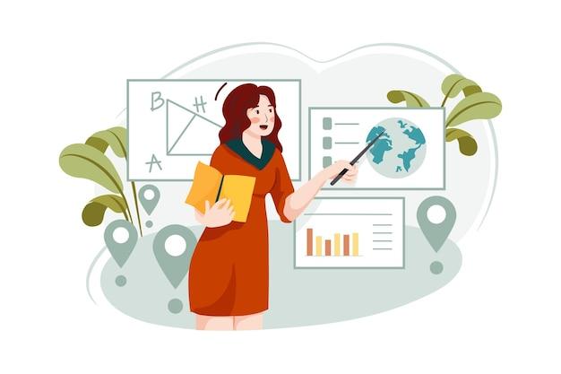 Istruzione sul concetto di illustrazione multi posizione