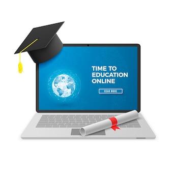 Concetto online di educazione