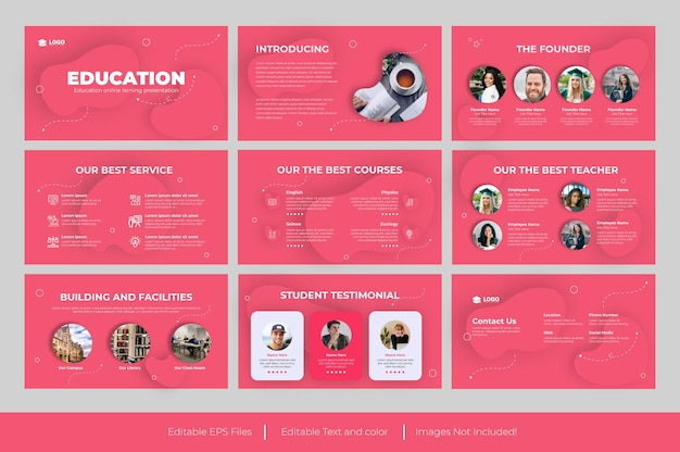 Modello di presentazione powerpoint per l'istruzione