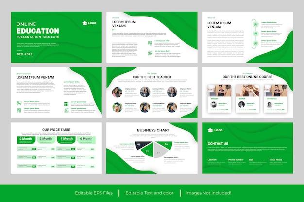 Modello di presentazione di diapositive di powerpoint per l'istruzione