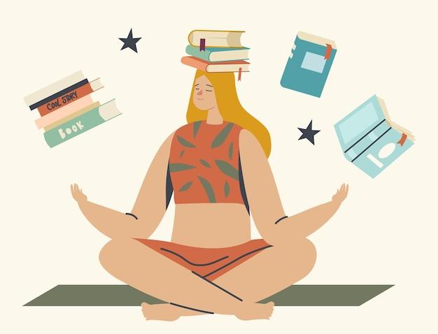 Istruzione, concetto di hobby della lettura