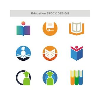 Logo di stock design per l'istruzione