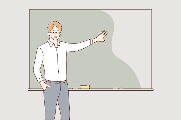 Concetto di lezione di spiegazione di formazione di istruzione.